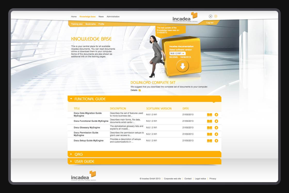 DIGITAL & COMMUNICATION Referenz - incadea - Learning Management System